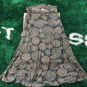 LuLaRoe long maxi skirt L paisley